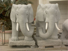 Chinese Granite Stone Carve Elephant For Outdoor
