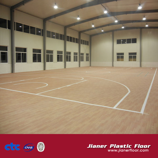 Indoor Usage and PVC Material Used Sport Court Flooring