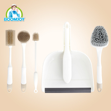 Mini plastic & TPR dustpan & broom set/multi-functional household cleaning brush set