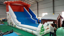 High quality Christmas theme inflatable slide, inflatable toboggan slide manufacturer
