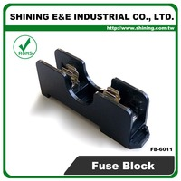 FB-6011 6x30mm Glass Fuse 600V 15A 1 Way Panel Mounted Fuse Holder