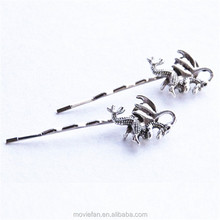 Dragon Hair Clips Fantasy Hair Clips Silver Dragon Bobby PIns Fantasy Dragon Hair Accessories