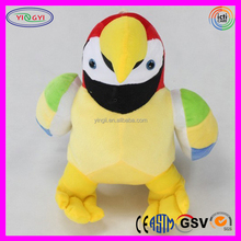 A579 Colorful Soft Eco Friendly Bird Plush Animal Toy Kids Playing Stuffed Birds