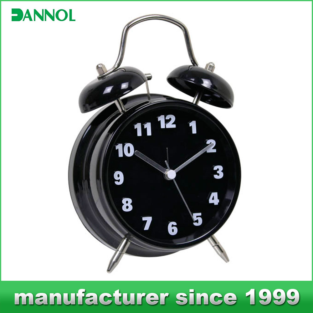 Hot metal bell table clock personalized gifts wholesale
