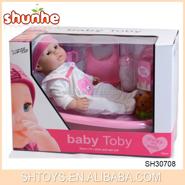 Lovely baby IC toys silicone reborn baby doll kits with bathtub
