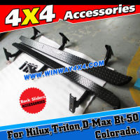 4X4 ACCESSORIES OFF ROAD ROCK SLIDER SIDE STEP BAR FOR HILUX VIGO TRITON D-MAX BT-50 COLORADO XTERRA