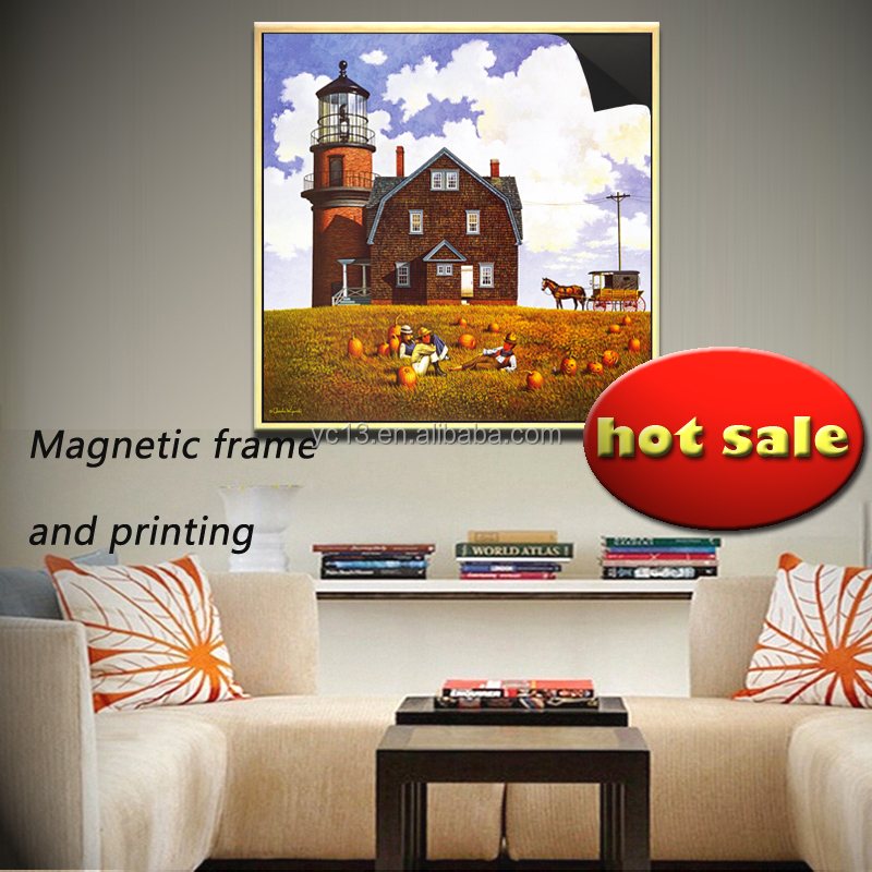 cube rotating photo magnetic frame & print magnetic painting TOWN 1013-64