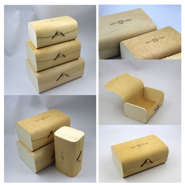 Wood packaging box
