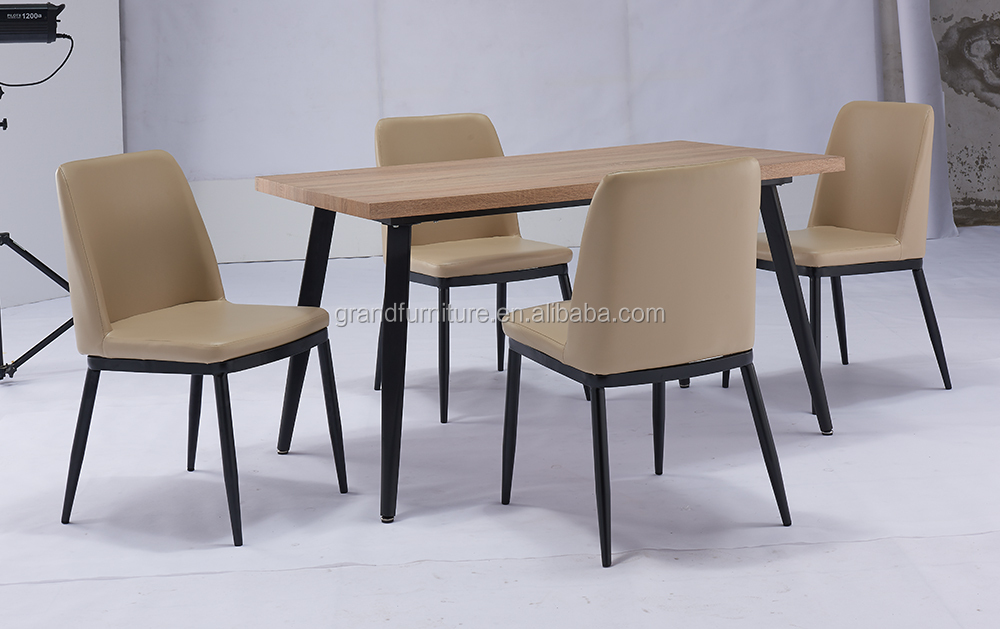 2016 Latest Design Kitchen Furniture Wooden and Metal Table Sets