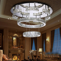Round led ceiling lamps modern crystal lighting for indoor decoration