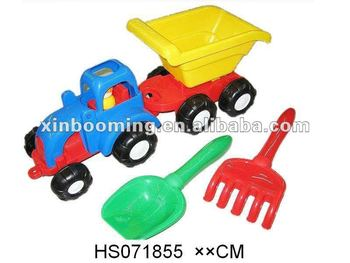 Sand beach truck toy set