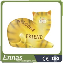 Polyresin new design of cat figurine crafts for kids