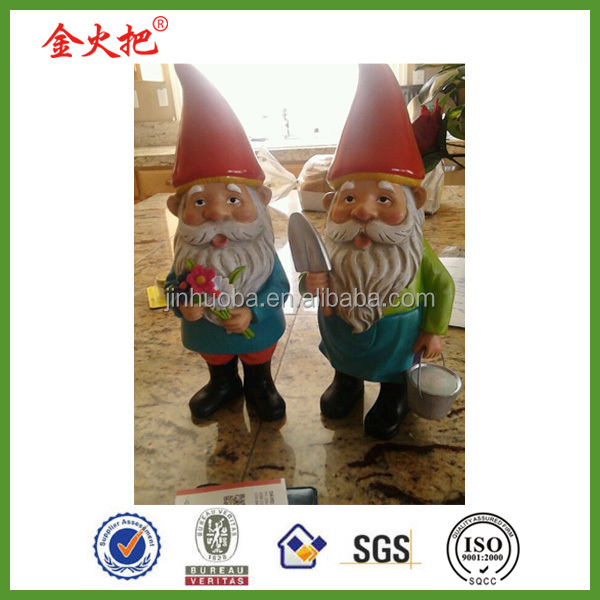 Resin promotional garden gnome figures for garden decoration