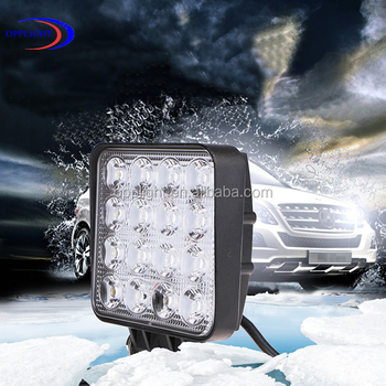"Opplight 4.5inch led 48w working light, square led 48w off road working lamp, 4.5"" 48w led work lighting"