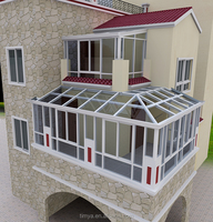 Strong prefabricated glass house,aluminum sunroom,conservatory