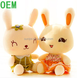 ODM custom plush stuffed and plush toy rabbit with dress