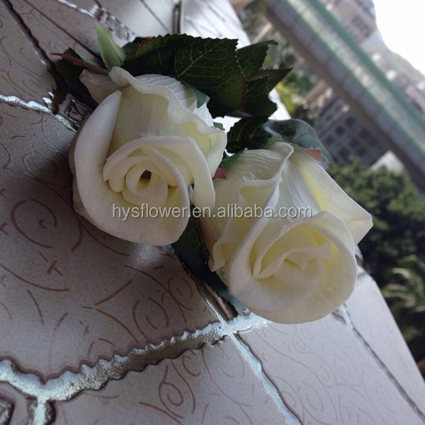 pu pure white flower bud wedding decorative rose bud small rose bud for sale
