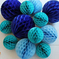 Mix colors tissue paper HONEYCOMB BALLS for wedding party decorations