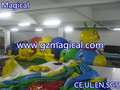 big worm inflatable obstacle course