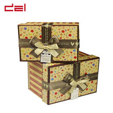 High quality ribbon decoration dolls paper gift box packaging