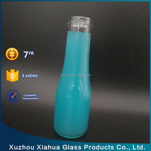 250ml long stem glass juice beverage bottle with cap
