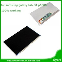 100% working touch screen digitizer panel assembly complete lcd display replacement screen for samsung galaxy tab GT p1000
