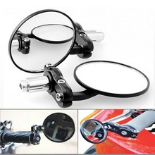 "1 Pair Motorcycle Round 7/8"" Handle Bar End Foldable motorbike Rear View Side Mirrors For Suzuki for Kawasaki for Honda"