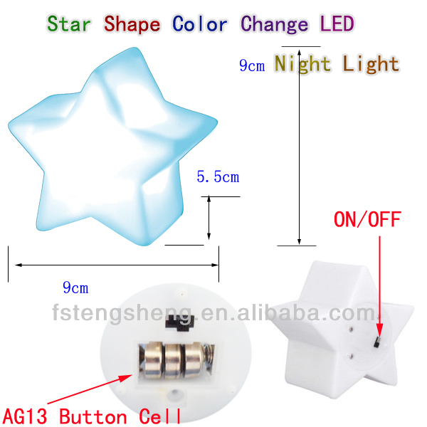 Room Decoration Eco-friendly baby night light,night light projector star shape