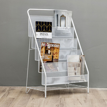 Magazine Rack Brochure Book Display Stand Book Shelf For Room