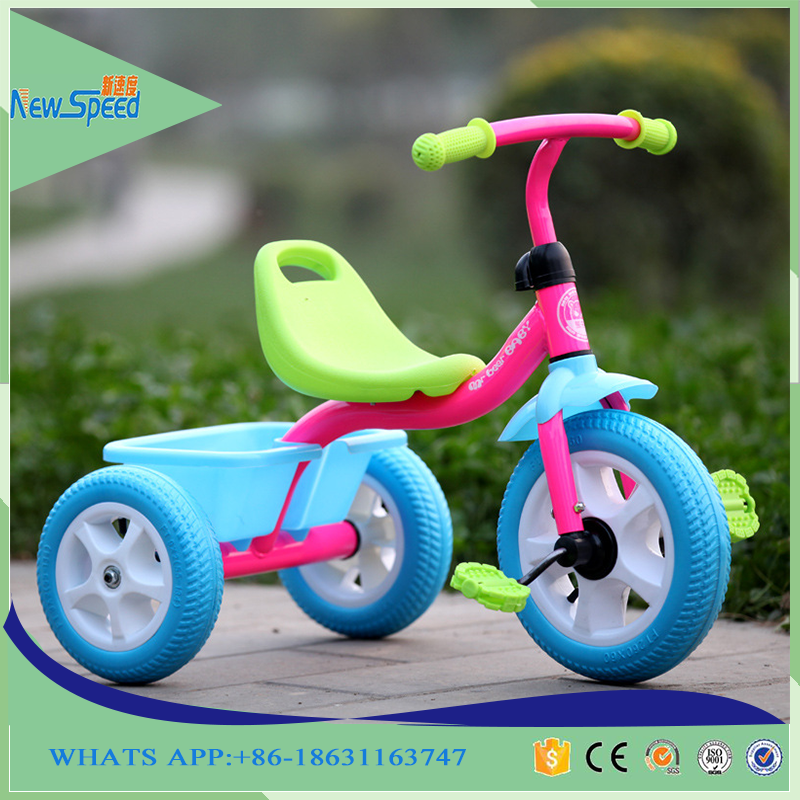 Dismountable parts baby carriage / theree wheels kids tricycle trike / toys for baby carrier tricycle with roof