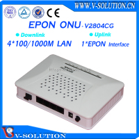 Optical receiver,GEPON/EPON ONU 4 GE RJ45 LAN port V2804CG