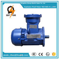 1.1KW 1.5HP 4P 3ph AC explosion proof wood cutting machine motor