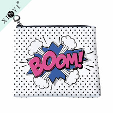 High quality fashion personalized cosmetic bag custom logo printed makeup organizer bag
