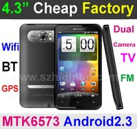 Cheapest 4.3inch Android2.3 Smart Phone with 3G Video