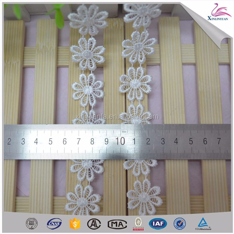 China popular ploy cotton lace trim for sale