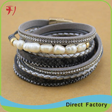 NEW STYLE DIY infinity leather woven bracelet Angel Wings Pearl masquerade beard braided bracelets for women men