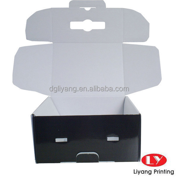 custom white Flute corrugated paper packaging carton box
