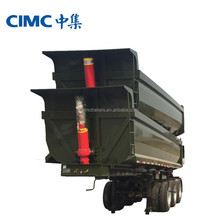 CIMC Hot sale ! Cheap Price Tri-axle Semi Dump Trailer, Tipping trailer new model