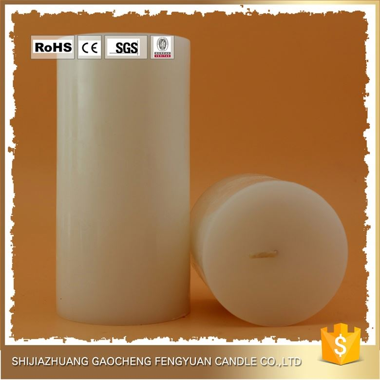 With Brand Name decorative scented middle size pillar white candles