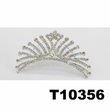 wholesale cheap rhinestone metal pageant crowns china