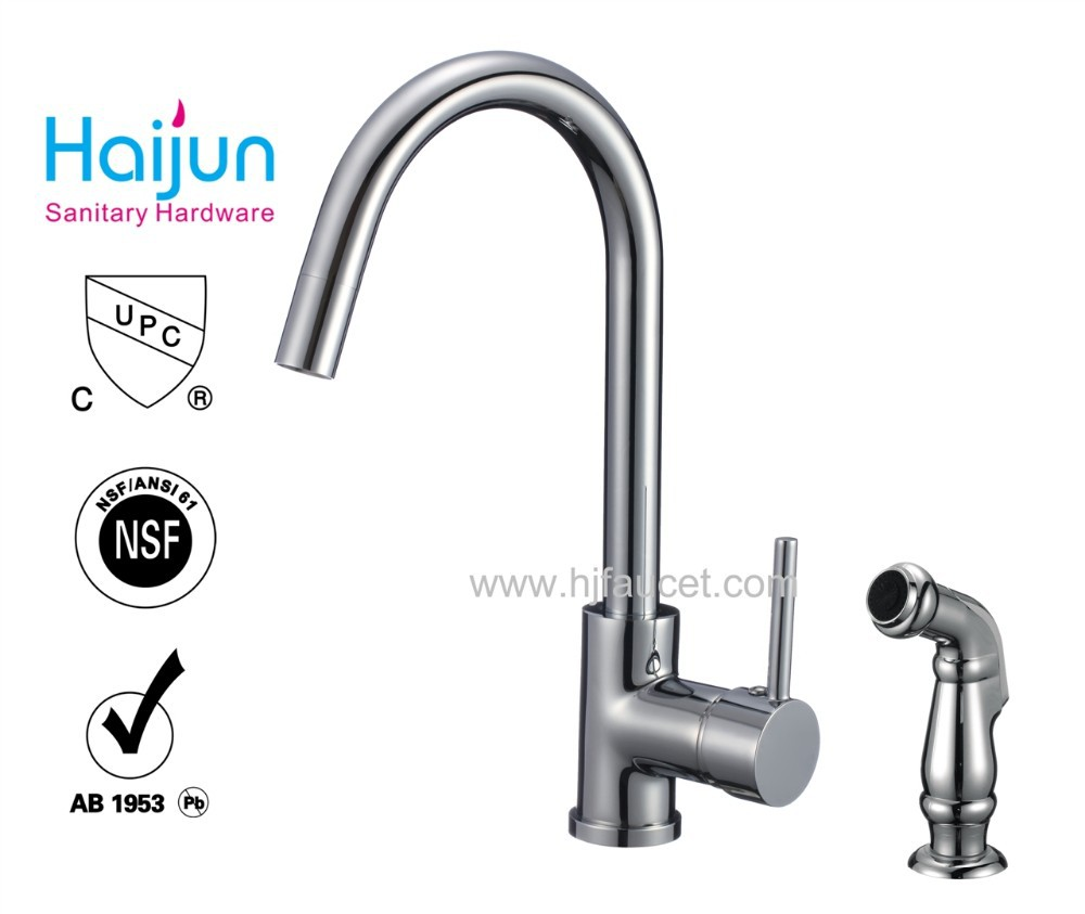 cupc kitchen faucet with side spray