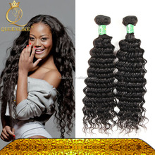 Queenlike beauty hair deep curly Brazilian hair human natural remy hair strong and healthy