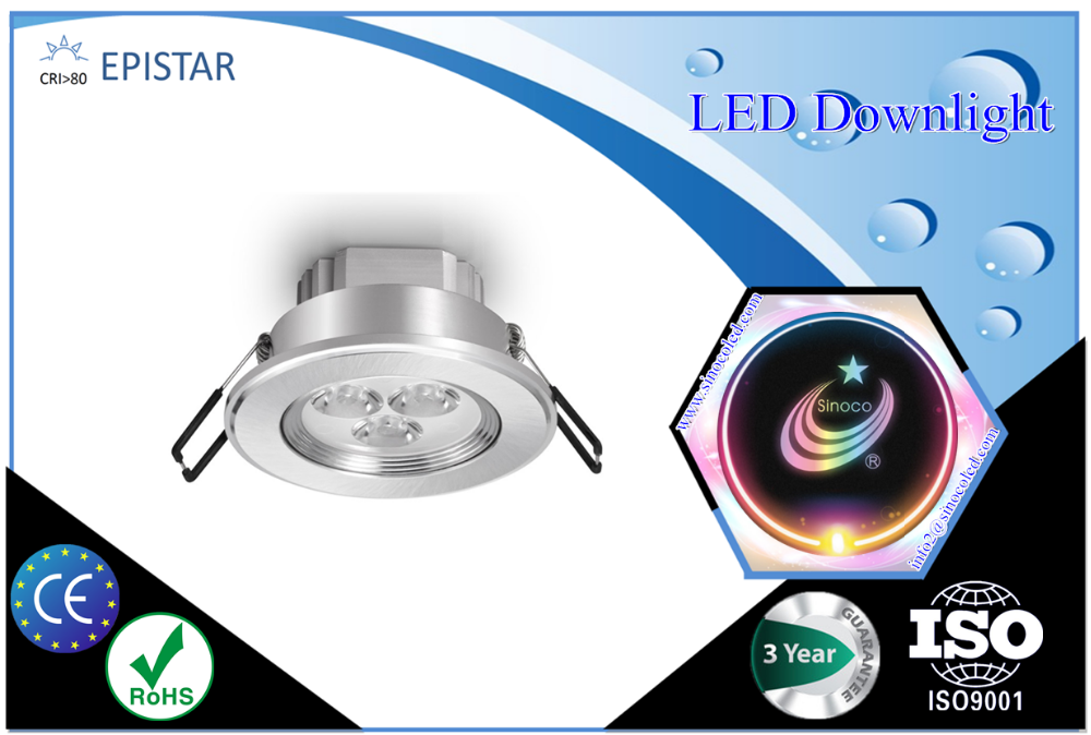 Led Commercial Downlight,3w 5w 7w 9w 12w led ceiling light