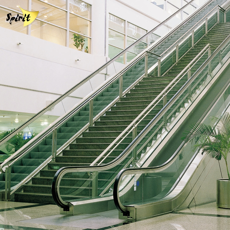 airport stair stainless steel glass railing baluster , staircase stainless steel handrail design in malaysia