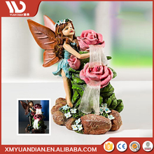 China Wholesale Websites Art Work Resin Craft Fairy Solar Led Light 2017 Price List
