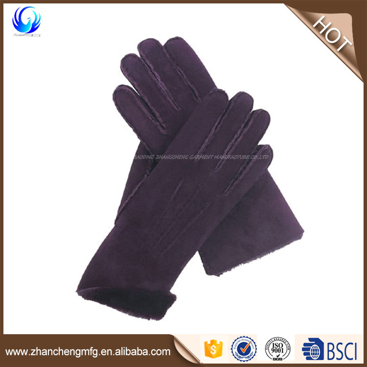 New design women leather elegant gloves with great price