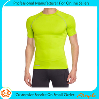 Men's custom fitness athletic softextile compression t shirts