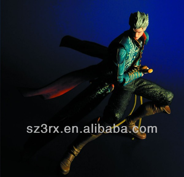 DEVIL MAY CRY 3 VERGIL ACTION FIGURE PLAY ARTS KAI SQUARE ENIX VIDEO GAME NEW