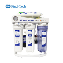 7 stage alkaline purifier reverse osmosis ro water filter with pressure gauge