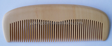 Nature color hair wood comb